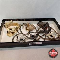 1488 Jewellery Grouping (Including Austrian Crystal):  Fox Theme; 2 Bracelets; 2 Necklaces; 3 Rings