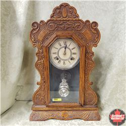 """Gingerbread Mantle Clock """"Ansonia Clock Co. New York, USA"""" Model 8 Day Arctic"""