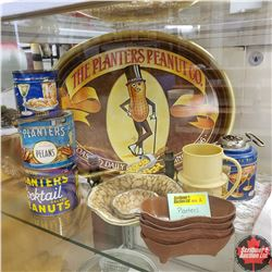 Planters Peanuts Collection : Tray, Nut Chopper, S&P, Vintage Tins, etc