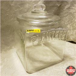 Planters Jar (Square) w/Lid