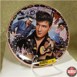 """Elvis Presley Musical Collector Plate (Plays """"Hound Dog"""")"""