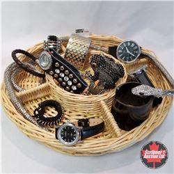 1439 Jewellery Grouping: 3 Watches; 8 Bracelets; 1 Serpent Wrap Bracelet