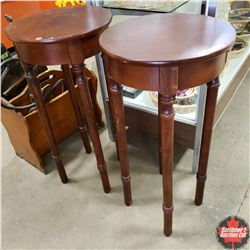 """2 Plant Stands (Round) (30"""" H)"""