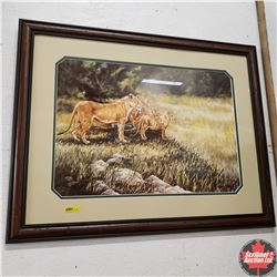 """Framed Limited Edition Print """"Unfinished Pride"""" 1484 of 4250 by Gail Adams (37"""" x 29"""")"""