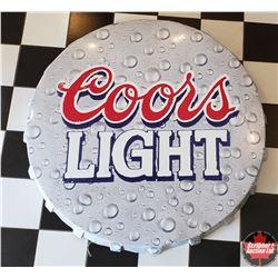 "Coors Light Bottle Cap Sign (40"" Dia)"