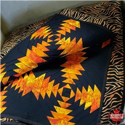 """Queen Size """"Pineapple Tiger Stripe"""" - FULL PROCEEDS TO LOCAL CHARITY """"HEALTHY FAMILIES"""""""