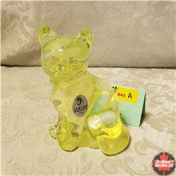 "Fenton Glass Cat (4"" H)"