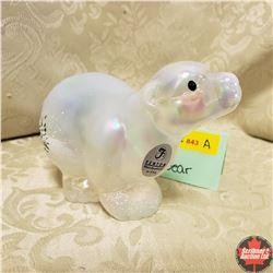 """Fenton Glass Polar Bear (3"""" H)"""