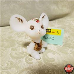 "Fenton Glass Mouse (3"" H)"