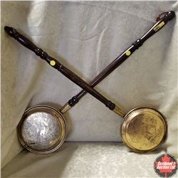 2 Brass Bed Warmers