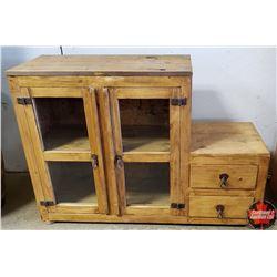 "Glass Door - Step Down Cabinet (48""W x 16""D x 33""H)"