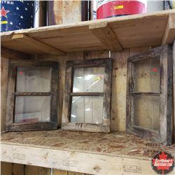 "3 Wood Sash Windows (14"" x 20"")"