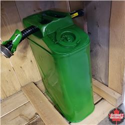 CHOICE of 3: US Army Gas Can & Spout (Painted Green)