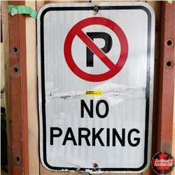 """Metal Sign: No Parking (12"""" x 18"""")"""