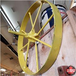 Steel Wheel + 2 Handles (Make Your Own Wheel Barrow Starter Kit)_