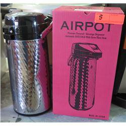 Airpot Pressure-Powered 2.2L Beverage Dispenser (has small dent)