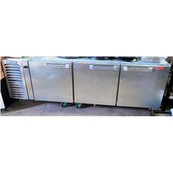 """Hobart 3-Door Undercounter Refrigerator, 100""""W x 34""""D x 37""""H"""