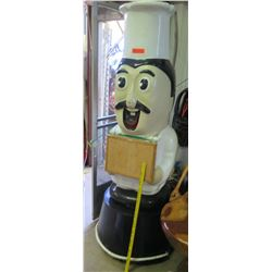 Large Chef Prop with Attached Bulletin Board