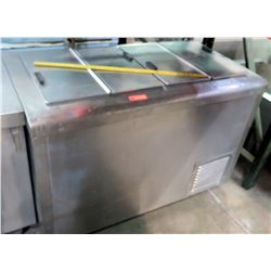Stainless 4-Compartment Reach-In Freezer