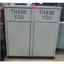 Attached Trash Recepticles w/ Tray Holders