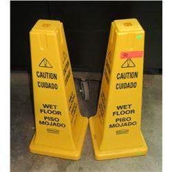 "Qty 2 Caution ""Wet Floor"" Props"