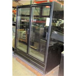 """HillPhoenix Glass Door Refrigerator, Model ORZ-2 (Approx. 63.5""""W x 42""""D x 78""""H)"""