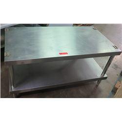 """Stainless Prep Table w/ Bottom Shelf 48""""W x 28""""D x 24.5""""H"""