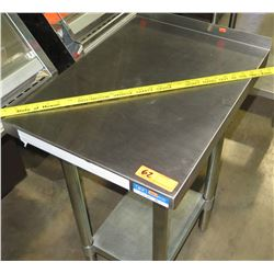 BK Resources Stainless Filler Prep Table, Model VFTS-1824