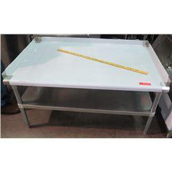Metal Prep Table w/ Undershelf