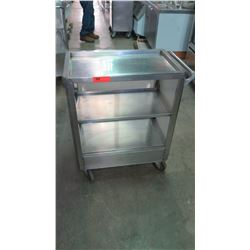 "Stainless Food Transport Cart with 2 Shelves, 26""W x 16""D x 33""H"