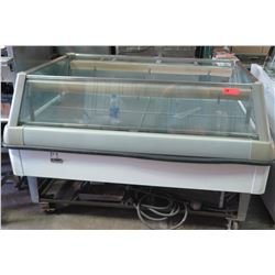 """Hill Excellence Glass & Stainless Steel Floor Food Display Case, 65""""W x 42""""D x 42""""H"""