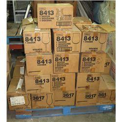 Pallet Multiple Cases of 12ea Grande Wine Parfait Glasses