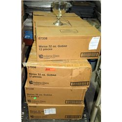 Pallet Multiple Cases of 12ea Weiss 32 oz Goblets