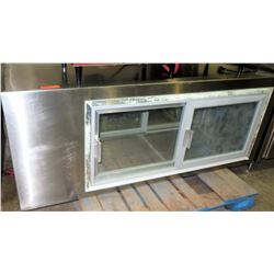 Stainless Steel 2-Door Pass-Through Display Case (No Compressor)