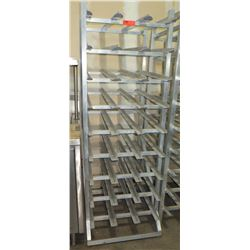 Rolling Kitchen #10 Can Storage Rack