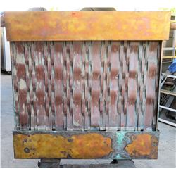 "Copper/Metal Waterfall Feature (removed from Kahala restaurant), 48""W x 8""D x 46""H"