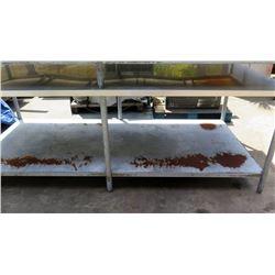 """Utility Table w/ Undershelf 8' x 44"""""""