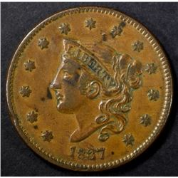 1837 N-3 LARGE CENT, VF