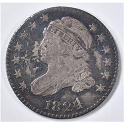 1824/2 BUST DIME F/VF dark