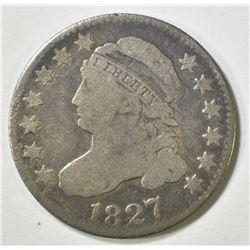 1827 BUST DIME VG
