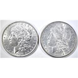 1889 & 90 MORGAN DOLLARS BU