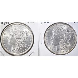 1885 BU & 96 CH BU MORGAN DOLLARS