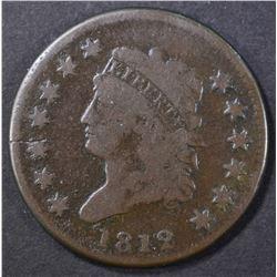 1812 LARGE CENT, VF