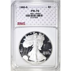 1986-S ASE, RNG PERFECT GEM PROOF DCAMEO