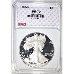 1987-S ASE, RNG PERFECT GEM PROOF DCAMEO