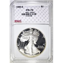 1988-S ASE, RNG PERFECT GEM PROOF DCAMEO