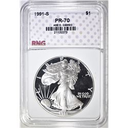 1991-S ASE, RNG PERFECT GEM PROOF DCAMEO