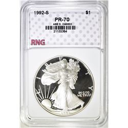 1992-S ASE, RNG PERFECT GEM PROOF DCAMEO