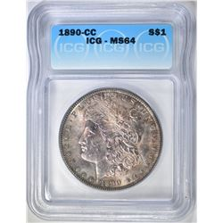 1890-CC MORGAN DOLLAR  ICG MS-64