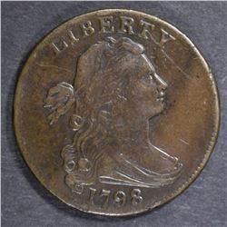 1798 LARGE CENT  VF/XF
